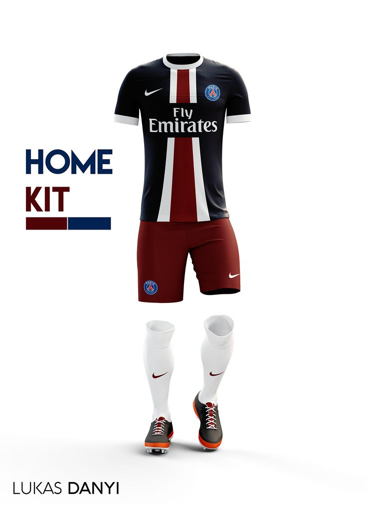 I designed football kits for Paris Saint-Germain for the upcoming season 16/17.