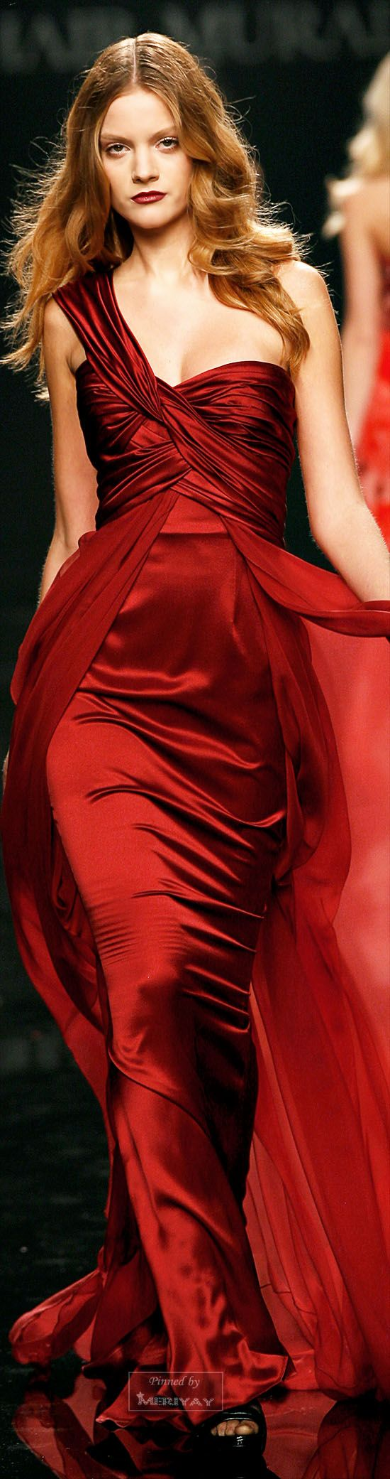 luscious deep red satin gown by Zuhair Murad - Fall Winter 2009/2010 - Istg everything Murad designs is the best thing i've ever seen. every single one of h                                                                                                                                                                                 More