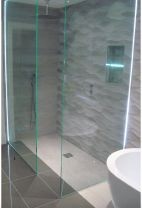 Gorgeous Bathroom with LED Colour Changing Strip - with Remote! #electrician #localbusiness #Camberley