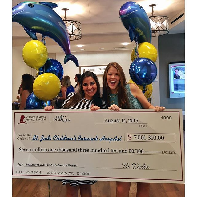 we LOVE those little kids!!!!! So thankful to be a part of St. Jude and top Tri Delta fundraising chapter!