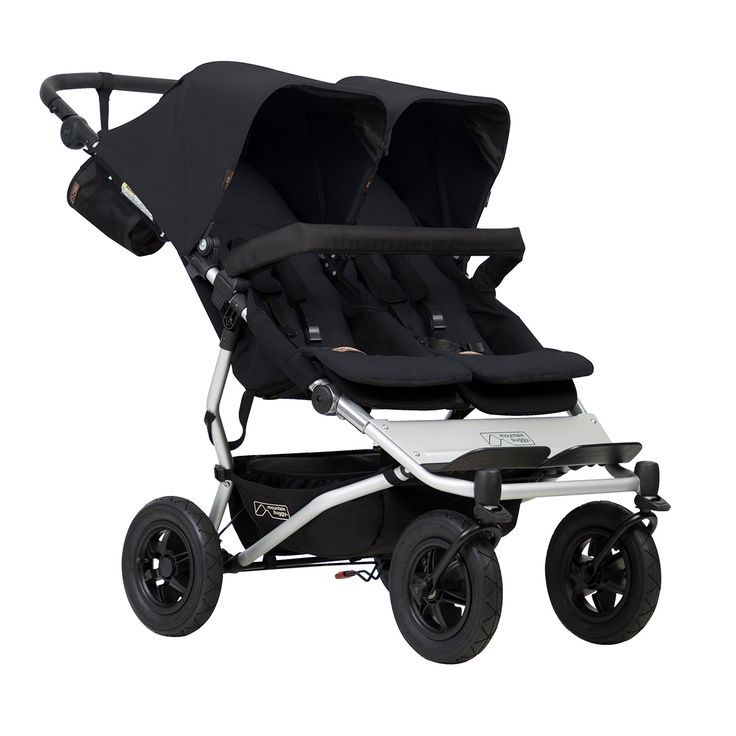 The Mountain Buggy Duet double stroller is the most compact side by side stroller. The perfect all terrain stroller for one child, siblings and twins.