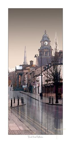 Brock Street Lancaster uk Reflection by Joseph Tamassy