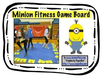 WHAAAAAA! Its time to get MOVING with these Minions! This game board is perfect for ANY setting classroom, physical education class, after-school program, family fun night, or even at home. There are over 30 exercise spots that require no equipment! A couple spots are left blank to fill in your own exercises or allow for free choice .Here is what is included30 exercise game spots minion game piecessmall dice template large dice template to use with motivational statements for middle of the…