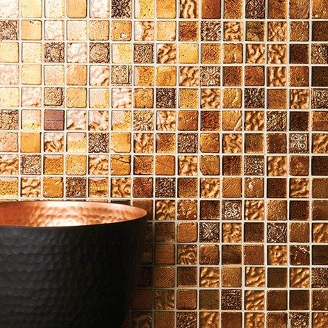 Yellow & Orange Stunning Mosaics by Original Style. Available from Welby & Wright.