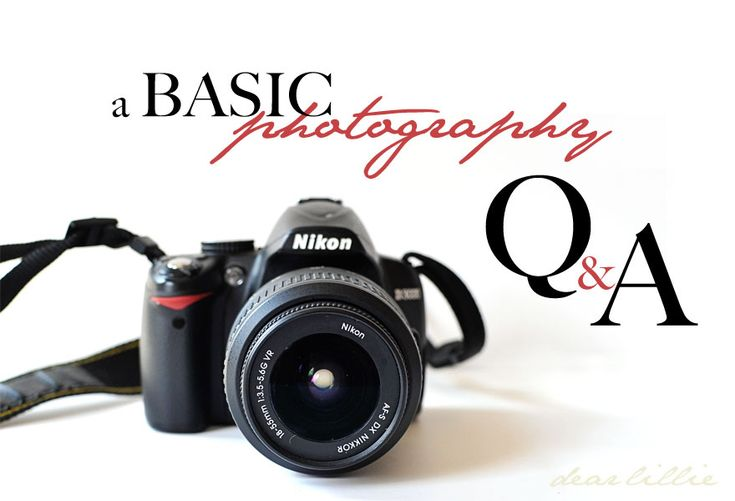 Excellent article with really basic photography Q!