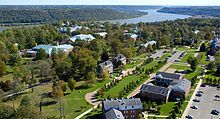 Hanover College's campus overlooking the Ohio River, Hanover, Indiana.