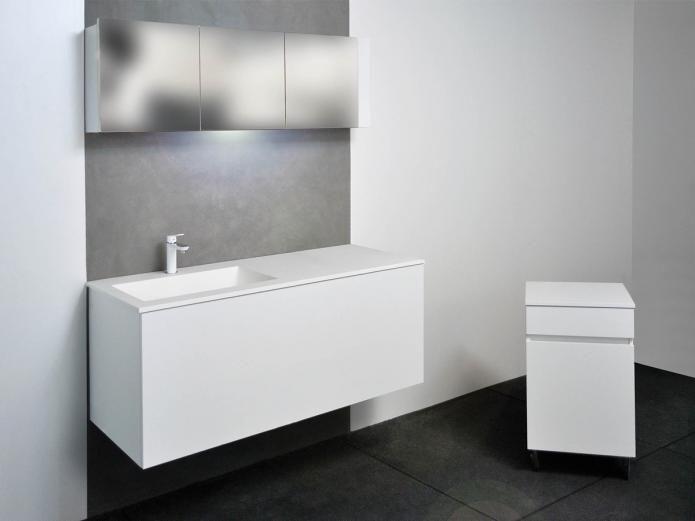 Innovative Bath Collections Runner 5436 Linea Three Drawer Storage Unit On Wheels