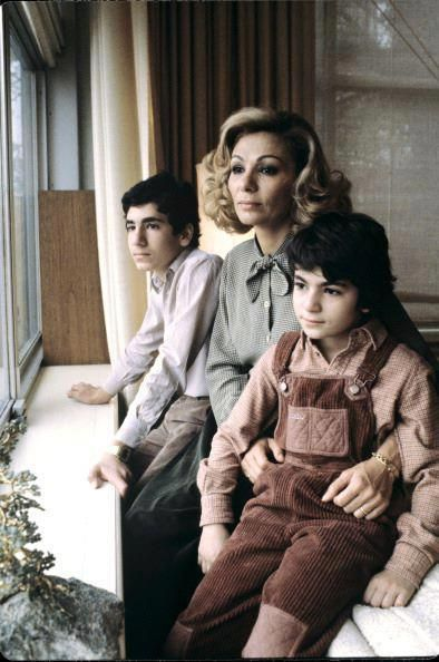 Shahbanou Farah, Prince Alireza and Princess Leila Pahlavi