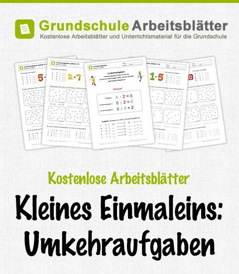 Kostenlose Arbeitsblätter und Unterrichtsmaterial zum Thema Kleines Einmaleins: Umkehraufgaben im Mathe-Unterricht in der Grundschule.