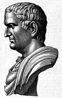 Dibujo de un busto de Marco Antonio.