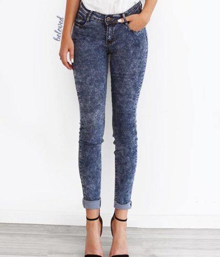 Blue Acid Washed Jean