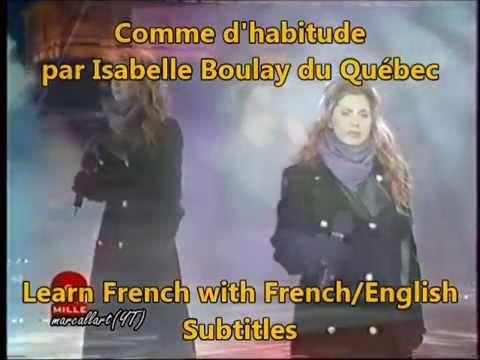 Comme d'habitude Isabelle Boulay French English Lyrics Subtitles