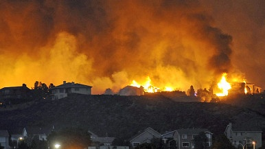 Homes in flames near Colorado Springs....watch over this my son.: Colorado Ignit, Ap Photo Th, 2012 Photo, Colorado History, Fire Colorado, Canyon Fire, Colorado Spring, Waldo Canyon, Fire 2012