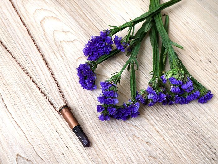 The Copper Amethyst Necklace too dreamy for words @sylviaroseart   Shop now www.daisychainstore.com.au