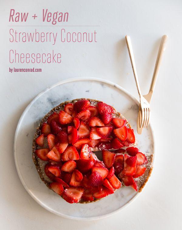 Recipe Box: Raw Vegan Strawberry Coconut Cheesecake