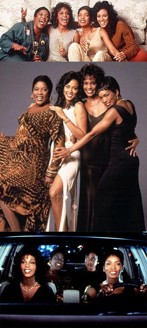 Waiting to Exhale (1995) — Top (from left): Loretta Devine, Whitney Houston, Angela Bassett Lela Rochon