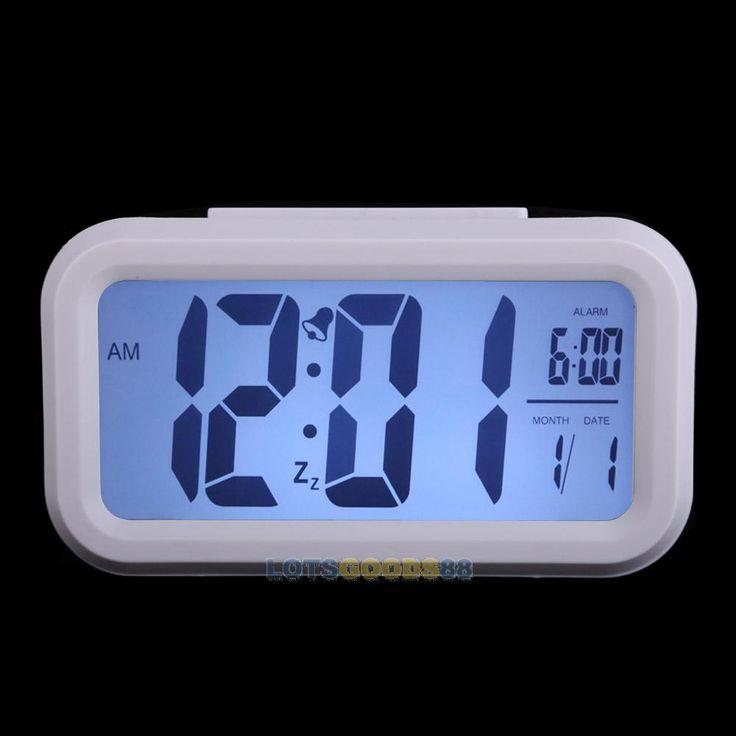 Ls4g мода отель домой многофункциональный цифровые часы календарь ночник белый