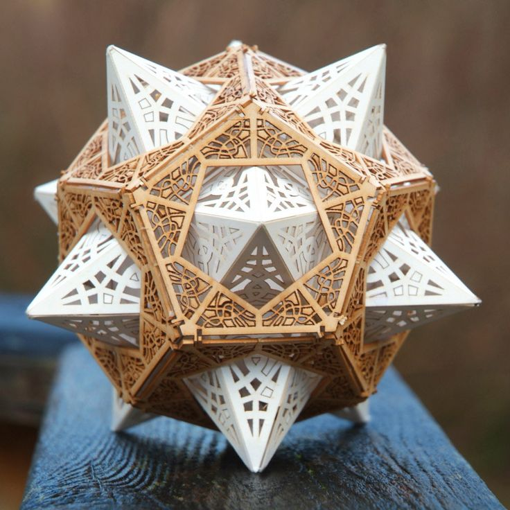 "Architect and designer Thomas Houha tells us that the technical term for his ingenious Star Orb is a ""stellated dodecahedron inside a dodecahedron."" That sounds amazing. But ""decorative object of an u"