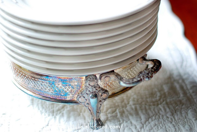 vintage silver casserole stand serves as a plate holder vintage rh pinterest com