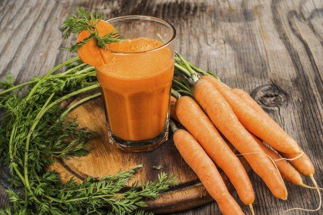 Zumo de naranja, zanahoria y apio