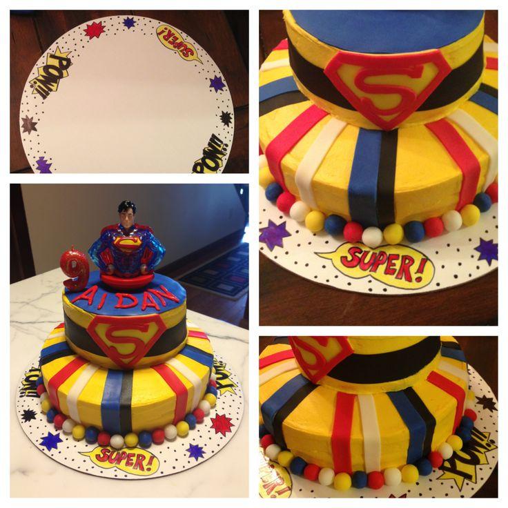 Best 25+ Superman Birthday Cakes Ideas On Pinterest