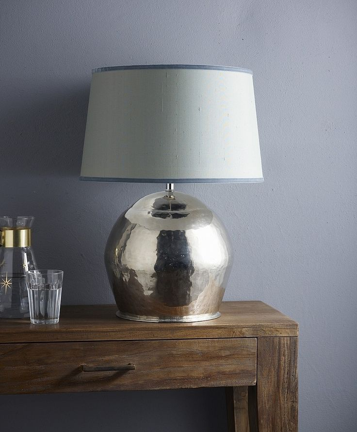 Brass ball lamp base from lombok