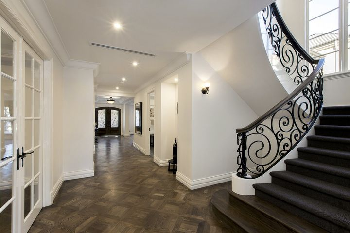A simply luxurious grand entry foyer, with impeccable finishes and French oak floors. | 27 Summerhill Road Brighton East