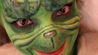Grinch makeup. | Theatrical | Pinterest