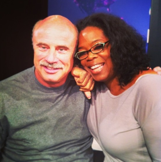 """Getting ready for #Lifeclass tonight.""—Oprah (Double-click for a sneak peek of what they'll be discussing, including an excerpt from Dr. Phil's new book, Life Code.)"