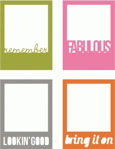 Silhouette Online Store: fabulous polaroids