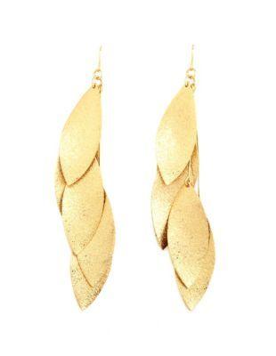 dazzling leaf dangle earrings