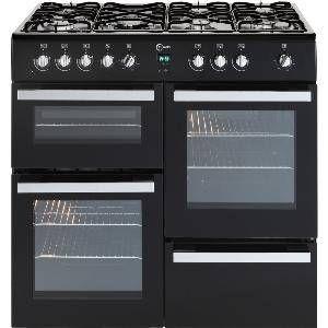 FLAVEL Milano 100 MLN10FRK Dual Fuel Range Cooker - Black & Chrome