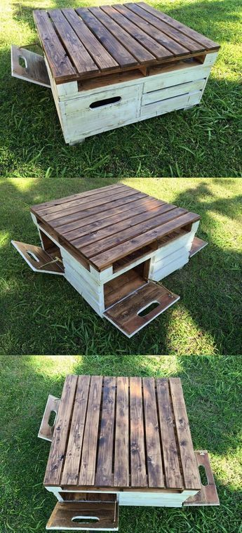 Pallet Coffee Table with Storage