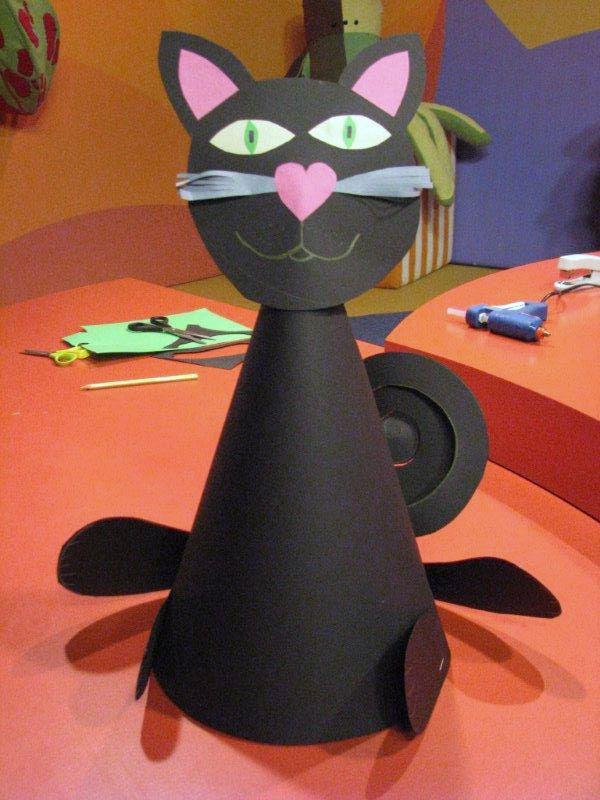 Čarodějnický klobouk s kočkou