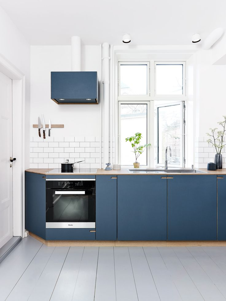 For the cooker hood we used the same materials as for the kitchen itself.