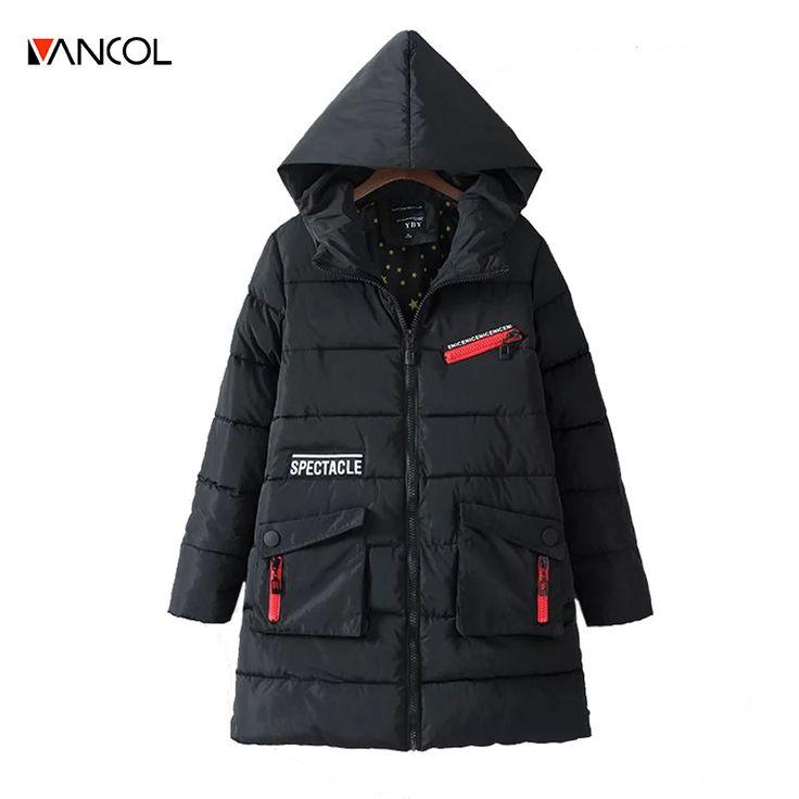 vancol ukraine veste d'hiver femmes winterjassen dames 2016 casual black winter coat women hooded long ladies down jackets