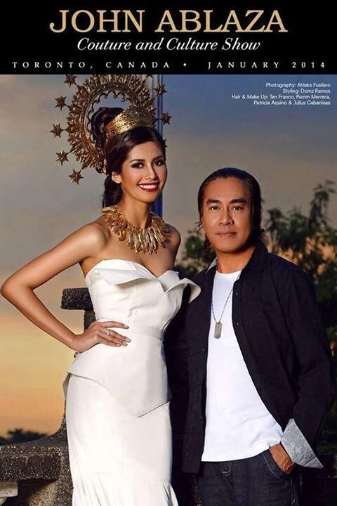 Beauty queen Shamcey Supsup meets the fashion icon John Ablaza. Toronto on January 18, 2014. Don't miss the event.