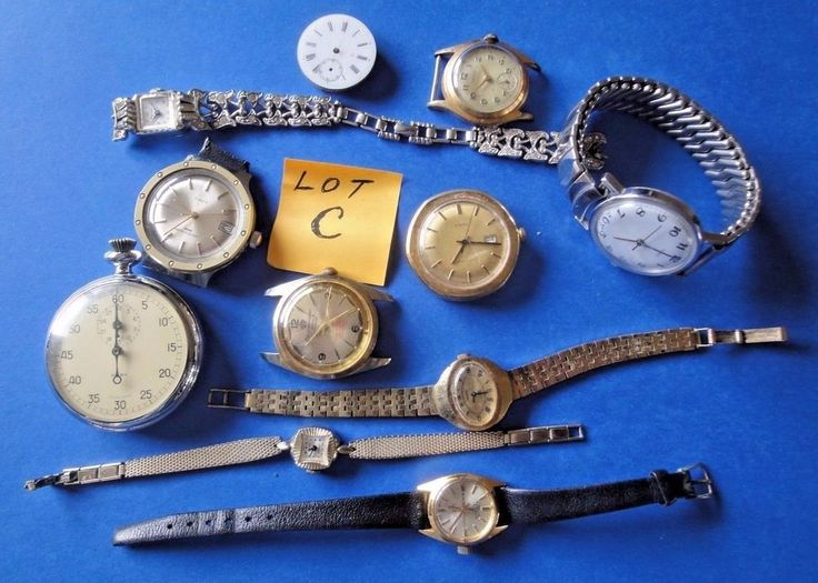 "Mixed Lot of Wrist Watches for Parts or Repair  Lot ""C"""