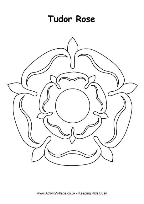 Tudor rose colouring page
