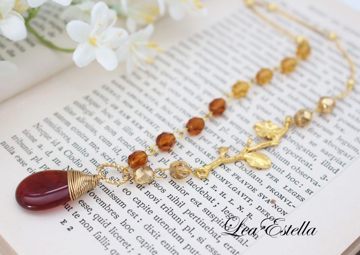 Bohemian Twig Branch Necklace Carnelian Necklace Rustic Gemstone Necklace Fall Autumn Necklace Asymmetrical Jewelry Fall Accessories - Amber by leaestella on Etsy https://www.etsy.com/listing/62323600/bohemian-twig-branch-necklace-carnelian