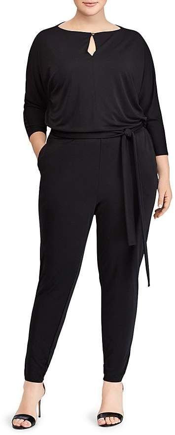 Attractive jumpsuit looks comfy too | plus size fashion | plus size jumpsuits | #plussizejumpsuits  #plussizefashion  #plussize affiliate