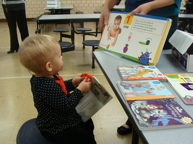 December 2012 - One of our youngest readers at the Big Box of Books event.