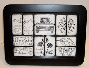 Domino-Art ... turned into serving trays