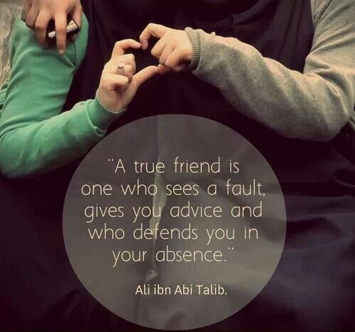 A true friend....But a fake friend doesn't do it in return.