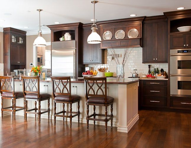 Chairish Brown Kitchen Cabinets, Should Kitchen Cabinets Be Darker Or Lighter Than Walls