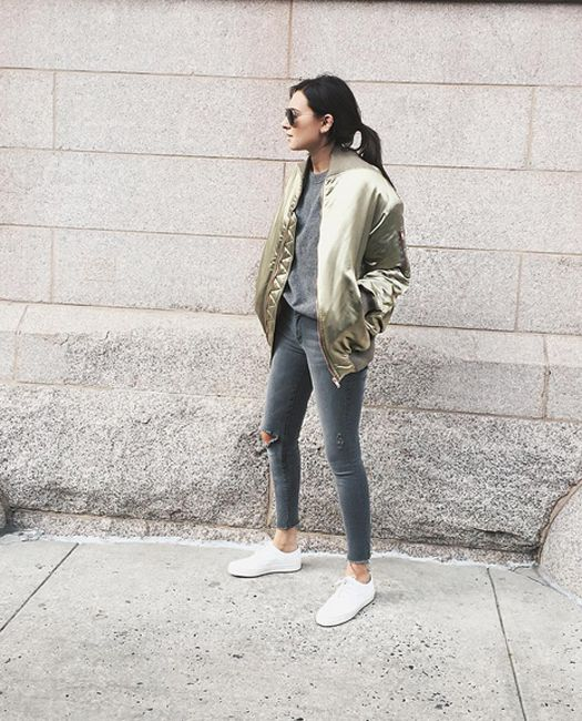 Danielle Bernstein of We Wore What out in New York- Fall 2015