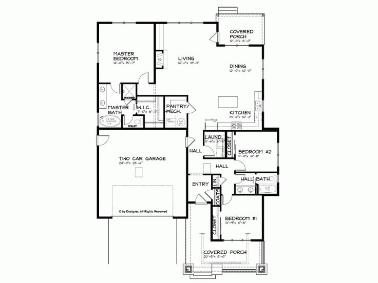 Eplans Bungalow House Plan Craftsman Single Story Open