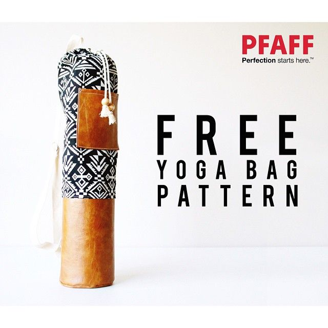 New month, new #freesewingproject! Check out our blog to download the free pattern for this yoga mat bag, featuring a contrast bottom and pocket, shoulder strap and drawstring closure. This one was made entirely on the PFAFF passport 2.0. Direct link in profile! #pfaff #sewing