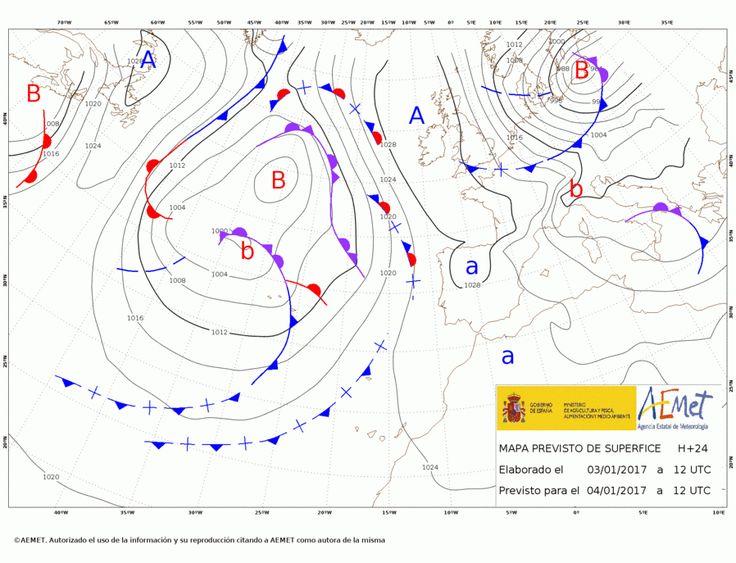 El tiempo del miércoles: Sigue la niebla y el frío en el interior de la peninsula. Alguna lluvia en Galicia, Castilla y Extremadura.