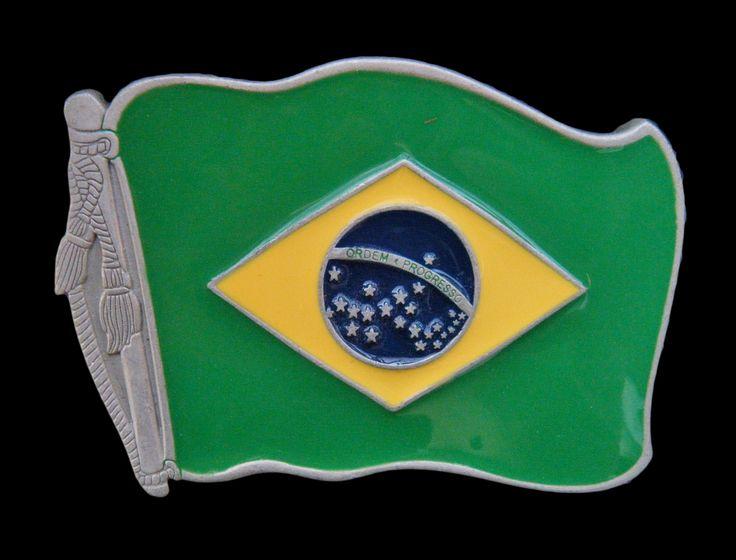 Brazil Brasil Brazilian Rio In Soccer Flag 2014 Belt Buckle
